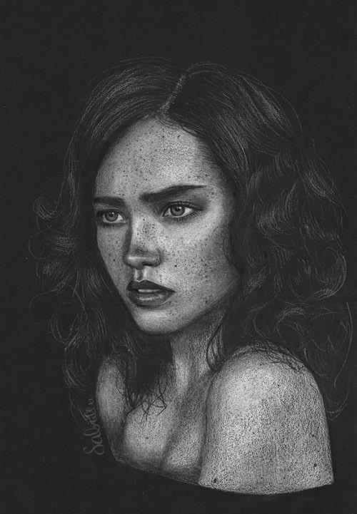 Zeichnung einer Frau - Sabrillu