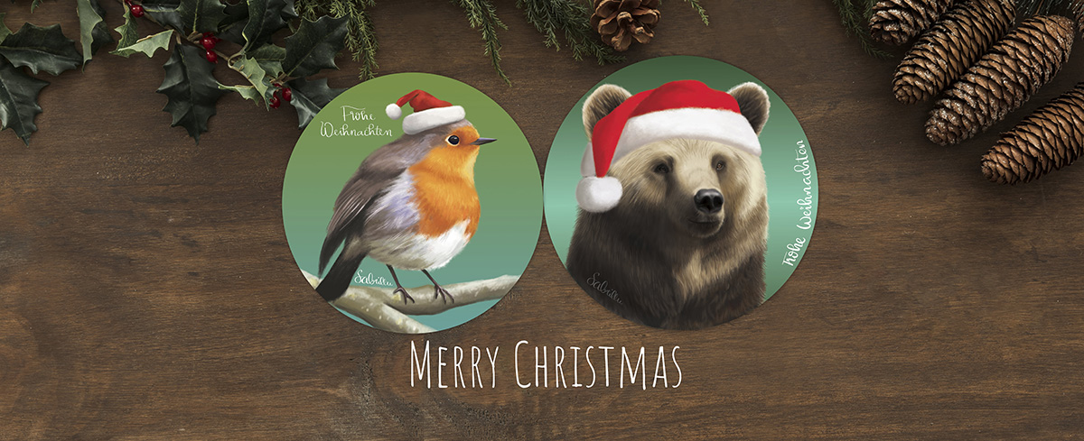 Christmas cards - digital painting