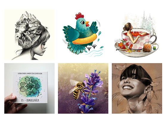 Preview of my brand new portfolio page - Sabrillu Illustration