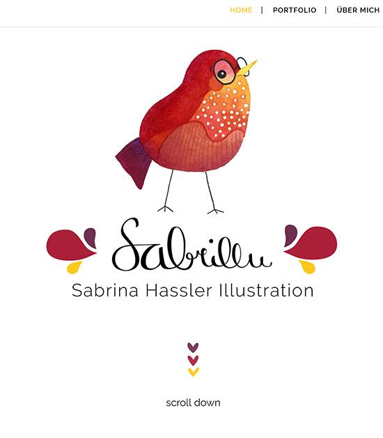 Homepage of my Website Sabrillu