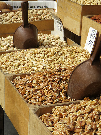 Nuts on the Levinsky Market Tel Aviv