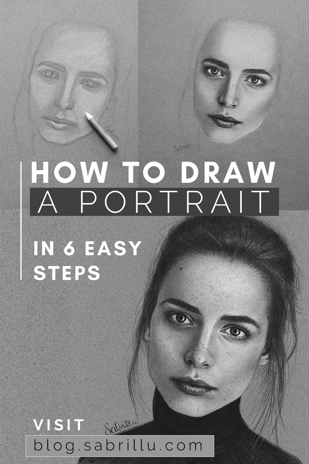 how to draw a portrait easy tutorial