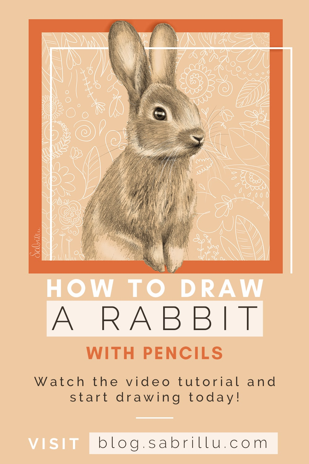 How to draw a rabbit with pencils - video tutorial