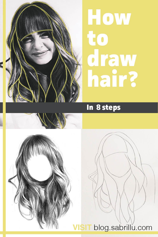 Wie man realistische Haare zeichnet - in 8 Schritten