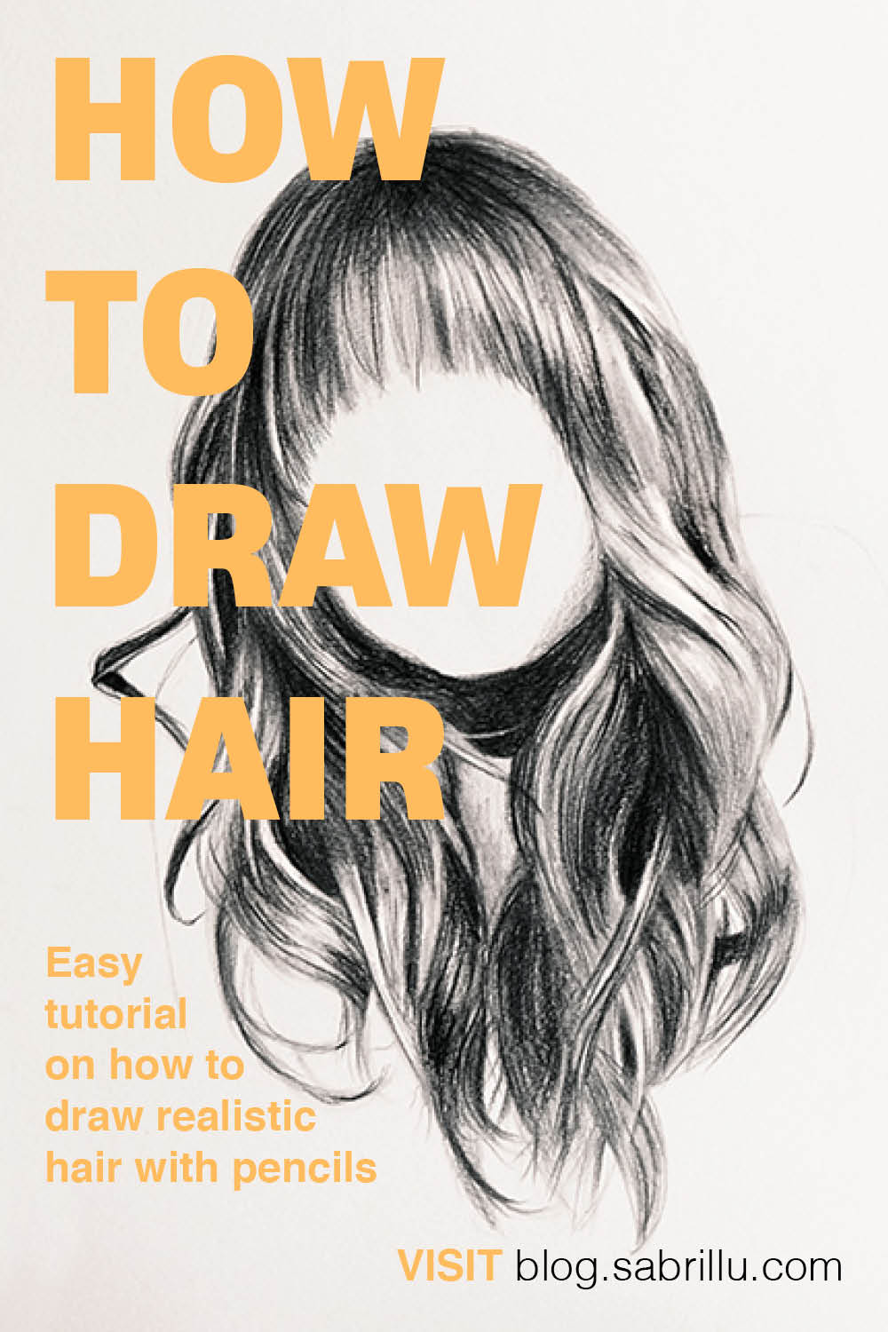 Easy tutorial on how to draw realistic hair with pencils