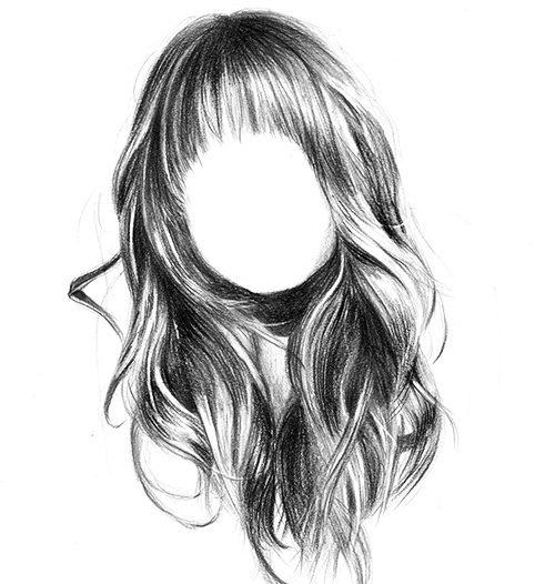 realistische Haare zeichnen