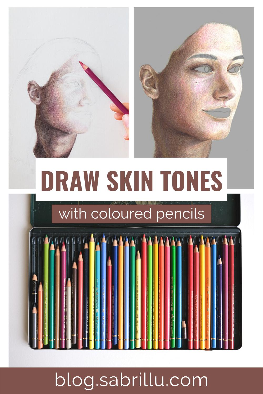 Wie zeichnet man Hauttöne mit Farbstiften
