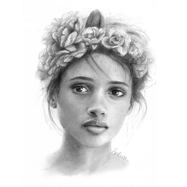 Draw a portrait with Sabrillu - Portrait zeichnen lernen - drawing tutorials - Zeichnen Lernen Schritt-für-Schritt Anleitungen